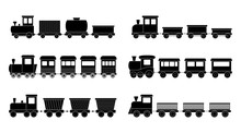 Set Of Kid Trains, Vector Illu...