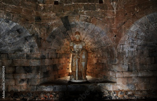 Staande foto Oude gebouw Medieval castle in Beja city - Portugal 28.Oct.2019