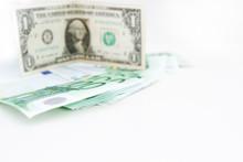 American Dollar Closeup Of Blu...