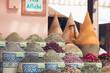 Leinwanddruck Bild - Herbs and Spices Kept in bags in bazzar market in Marrakech, Marocco