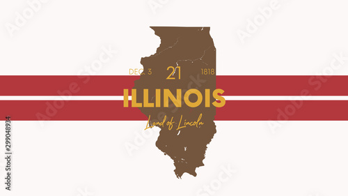 Fototapeta 21 of 50 states of the United States with a name, nickname, and date admitted to