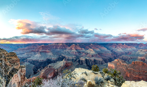Canvas Prints Arizona scenic panorama of grand canyon at south rim
