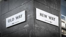 Street Sign To NEW WAY Versus ...