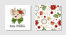 Set Of Christmas Gift Cards Wi...