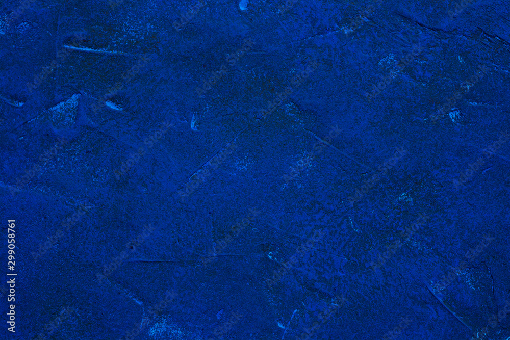 Fototapety, obrazy: Fragment of a wall painted with blue paint. Abstract background.