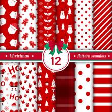Merry Christmas Pattern Seamle...