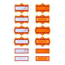 Vector Square Frame Design Ele...