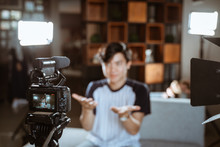 Asian Young Man Blogger Make R...