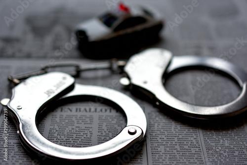 Photo 手錠 逮捕のイメージ 犯罪