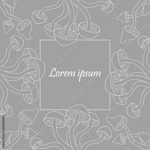 Cuadros en Lienzo Vector frame template with empty space for text editing