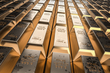 Gold bars or ingot - financ...