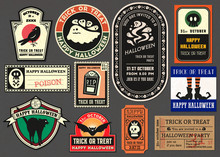 Happy Halloween Vector Badge R...