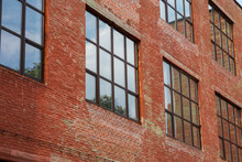 Brick Old Building With Windows