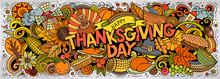 Happy Thanksgiving Hand Drawn ...