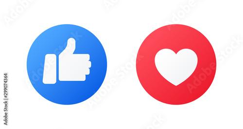 Fotografía  Emoji trumb up and like reactions