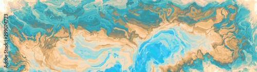 Fotobehang Fractal waves Panoramic marble gemstone abstract background.