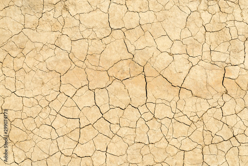 Photo Clay sandy earth parched and cracked