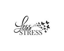 Less Stress, Vector, Wording D...