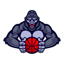 Vector Of Gorilla Mascot With ...