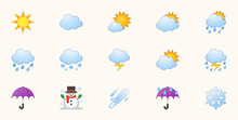 Weather Icons Vector Set. Temp...