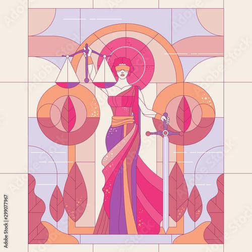 Fotografia The goddess of justice Themis