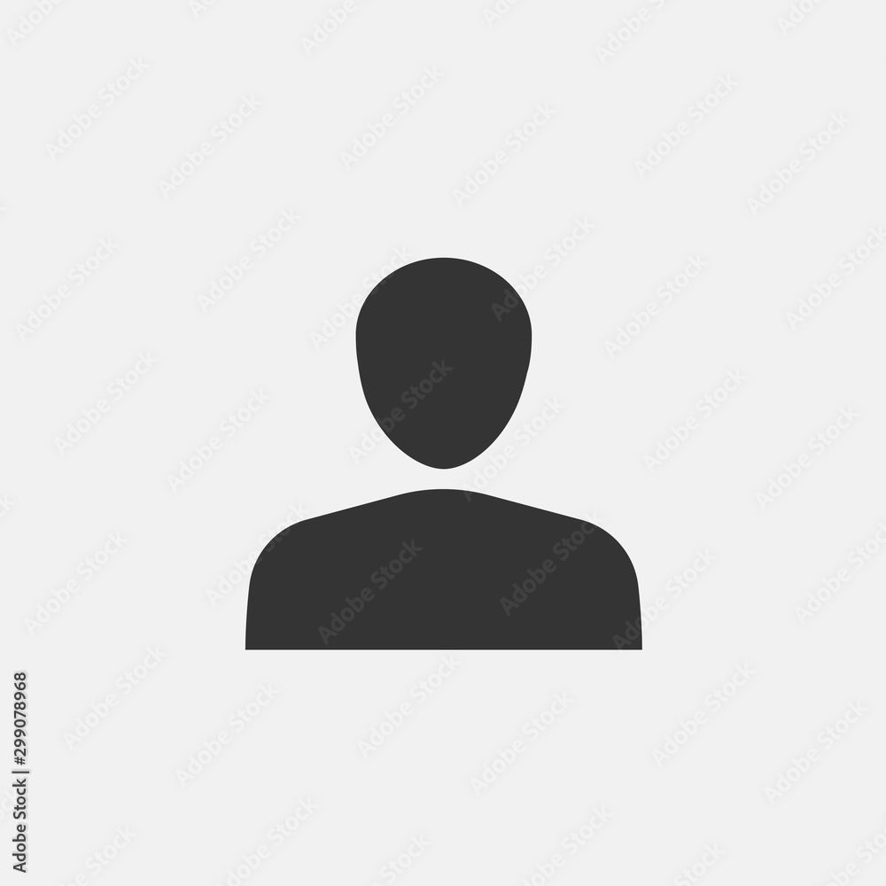 Fototapety, obrazy: man vector icon flat isolated sign