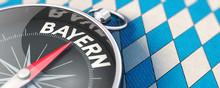 Kompassnadel Richtung Bayern