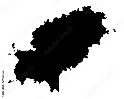 Karte von Ibiza Canvas Print