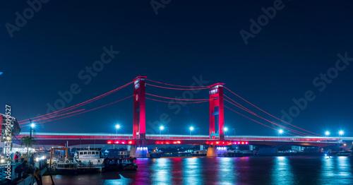 Pinturas sobre lienzo  Ampera Bridge, Palembang, Indonesia
