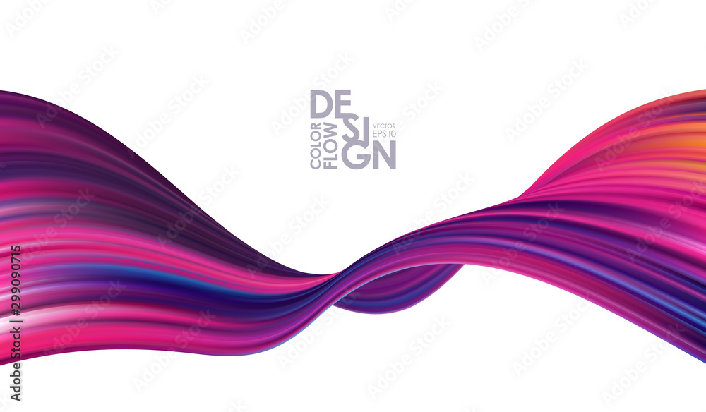 Fototapeta Colorful modern flow background. Abstract wave liquid shape. Trendy art design