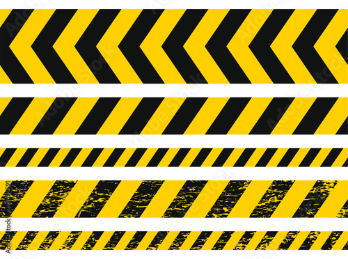 Seamless grunge security yellow black diagonal stripes Canvas-taulu