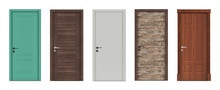 Doors For Modern Interior  3D Render.