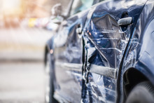 Car Crash  On Highway.  Automo...