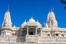 View Of A White Marble Hindu Temple