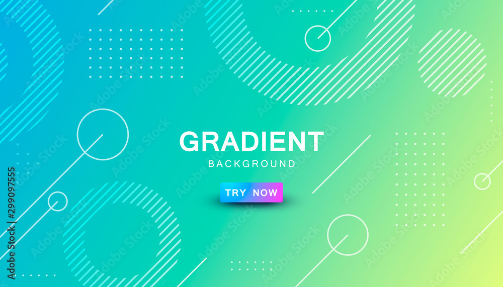 Fototapety, obrazy: blue and yellow gradient geometric shape background
