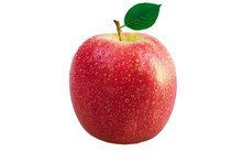 Fuji Apple With Water Drops Is...