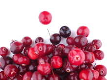 Cranberries On A White Backgro...