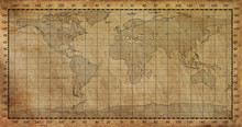 Old Paper World Map Background