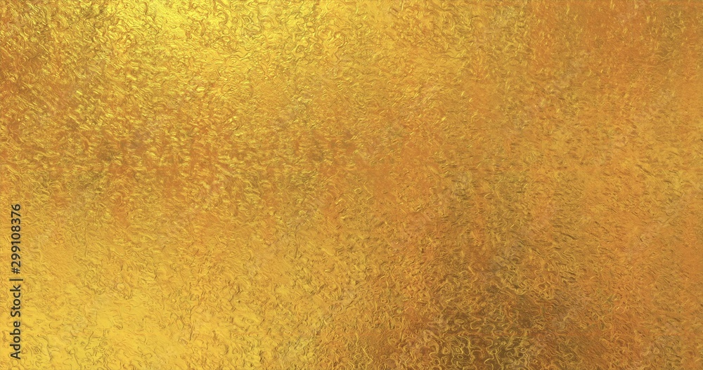 Fototapety, obrazy: Golden foil background. Gold texture 3D rendering image