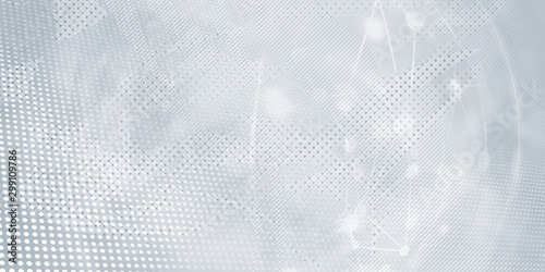 Fotomural  Gray halftone pattern with white line motion backdrop wallpaper