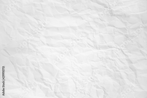 Fototapeta  white and gray wide crumpled paper texture background