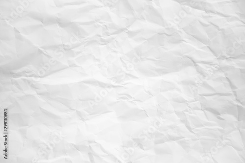 Obraz na plátně  white and gray wide crumpled paper texture background