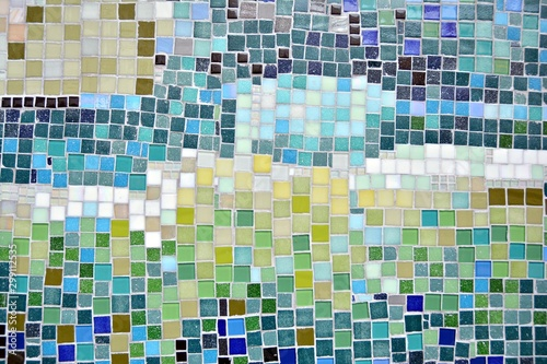 Obraz na plátně Colorful mosaic glass tile wall