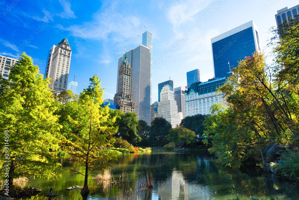 Fototapety, obrazy: New York City Midtown Manhattan View from Central Park, New York