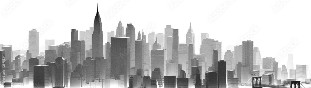 Fototapety, obrazy: PANORAMA CITY NYC