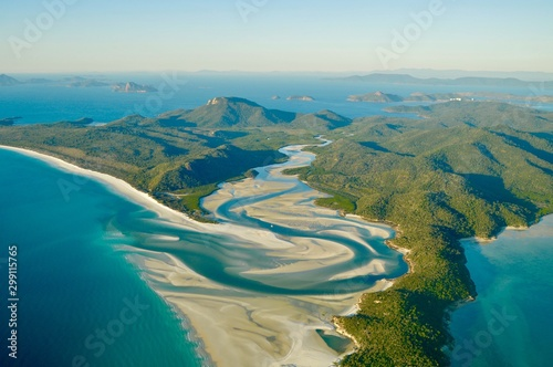 Photo Vue aérienne des Whitsundays, Australie