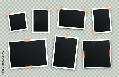 Realistic photo album frames Fotobehang