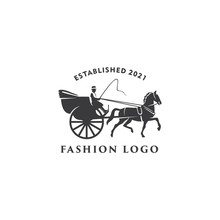 Illustration Horse Cart Drawn ...