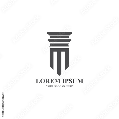Fotografering column Logo and symbol