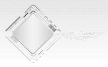 Digital Technology Futuristic On Gray Background